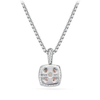 Petite Albion® Pendant Necklace with Morganite and Diamonds