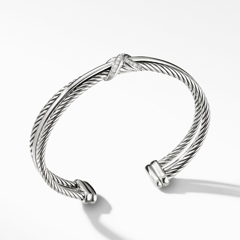 David Yurman Crossover X Bracelet with Diamonds
