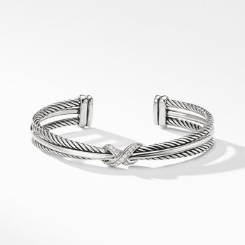 Crossover X Bracelet with Diamonds