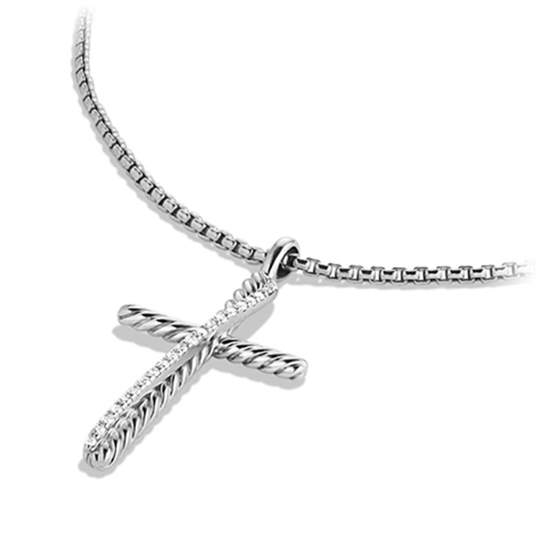 David Yurman The Crossover Collection® Cross Necklace with Diamonds