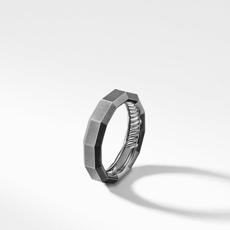 David Yurman Faceted Band Ring in Grey Titanium