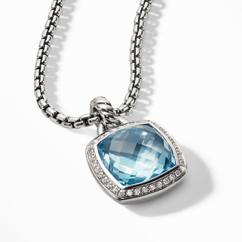 David Yurman Pendant with Blue Topaz and Diamonds