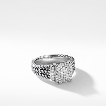Petite Wheaton® Ring with Diamonds
