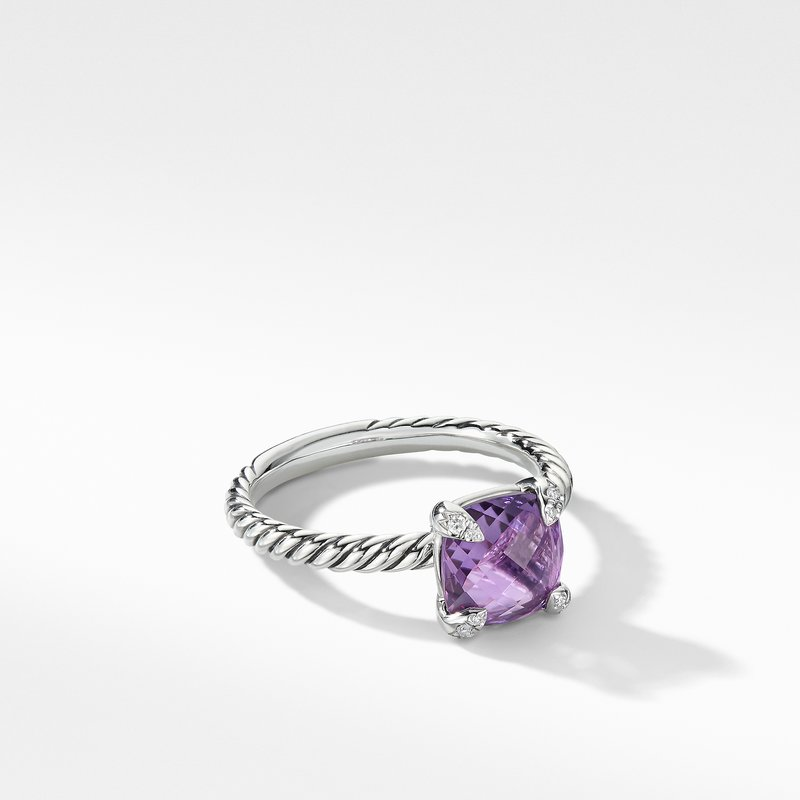 David Yurman Chatelaine® Ring with Amethyst and Diamonds