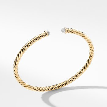Petite Precious Cable Bracelet with Diamonds in Gold