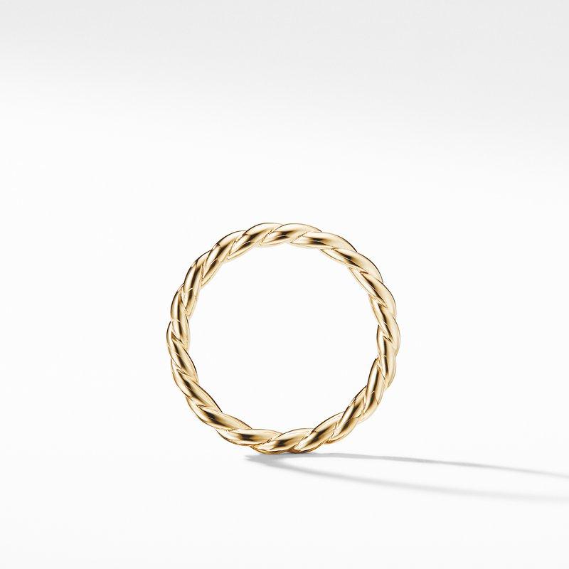 David Yurman Paveflex Ring in 18K Gold, 2.7mm