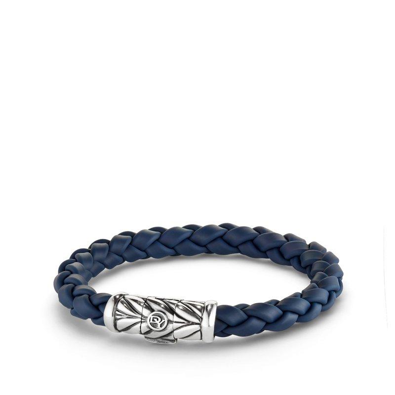 David Yurman Chevron Rubber Weave Bracelet in Blue