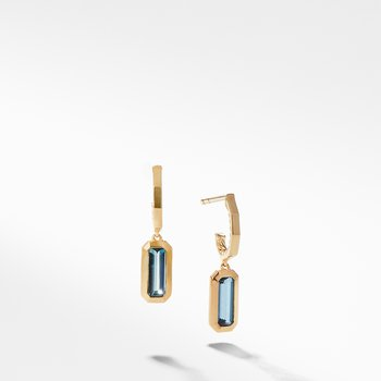 Novella Hoop Earrings in Hampton Blue Topaz