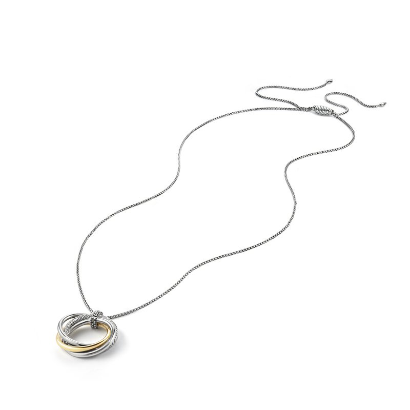 David Yurman Crossover Pendant Necklace with Gold