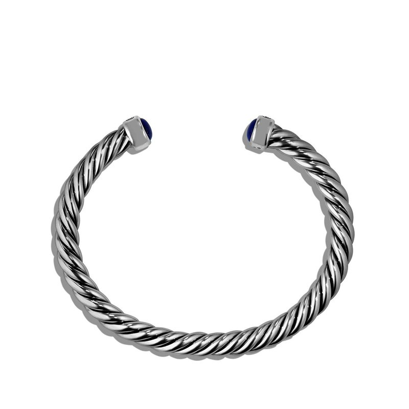 David Yurman Cable Classic Cuff Bracelet with Lapis Lazuli