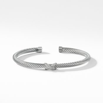 X Station Bracelet with Diamonds