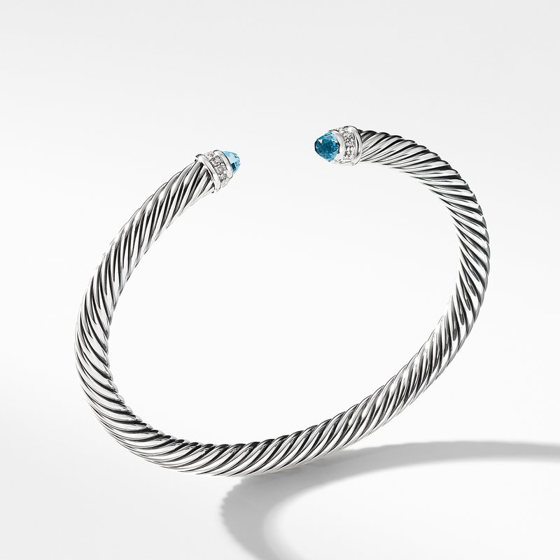 David Yurman Cable Classics Collection® Bracelet with Blue Topaz and Diamonds