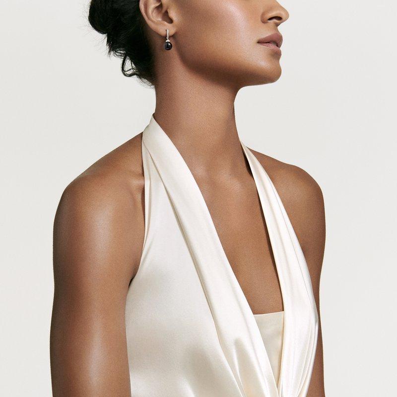 David Yurman Solari Hoop Earrings with Diamonds and Black Onyx