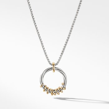 Helena Medium Pendant Necklace with Diamonds and 18K Gold,