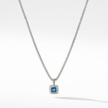 Petite Albion® Pendant Necklace with Hampton Blue Topaz and Diamonds