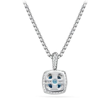 Petite Albion® Pendant Necklace with Hampton Blue Topaz and Diamonds