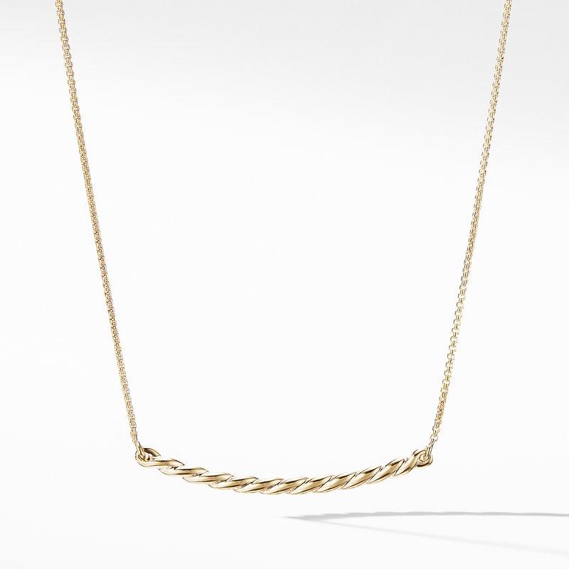 David Yurman Paveflex Station Necklace in 18K Gold