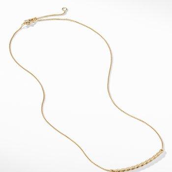 Paveflex Station Necklace in 18K Gold