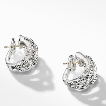 Tides Shrimp Earrings with Diamonds