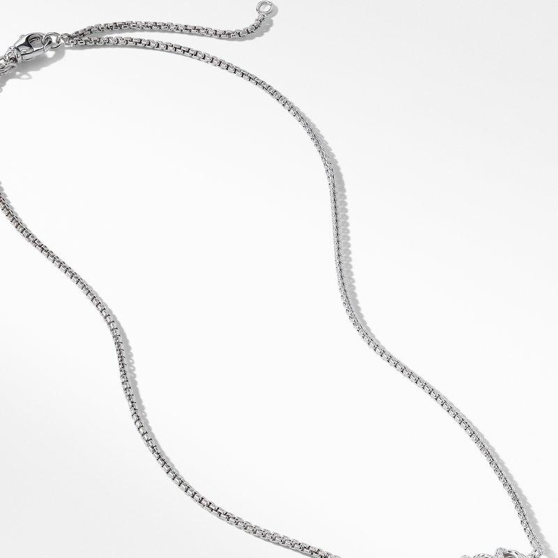 David Yurman Crossover Single Station Necklace  with Diamonds