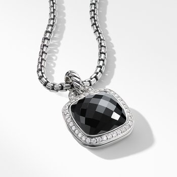 Pendant with Black Onyx and Diamonds