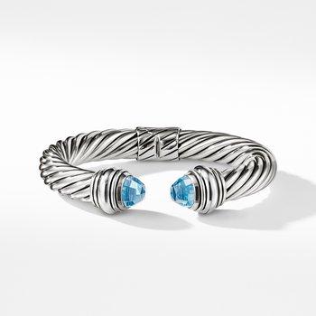 Cable Classics Bracelet with Blue Topaz, 10mm