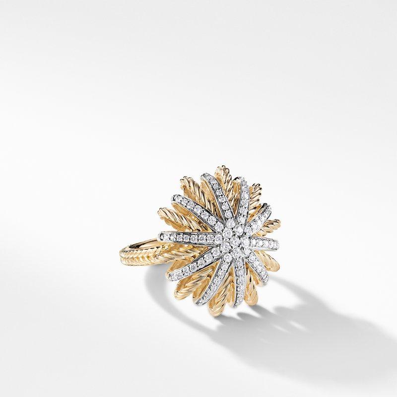 David Yurman Starburst Ring with Diamonds in Gold