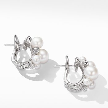 Pearl Cluster Earring with Diamonds