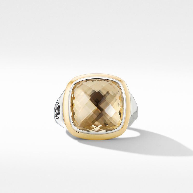 David Yurman Albion® Ring with Champagne Citrine and 18K Yellow Gold