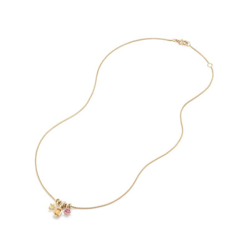 David Yurman Novella Pendant Necklace with Spessartite Garnet, Yellow Beryl, and Pink Tourmaline