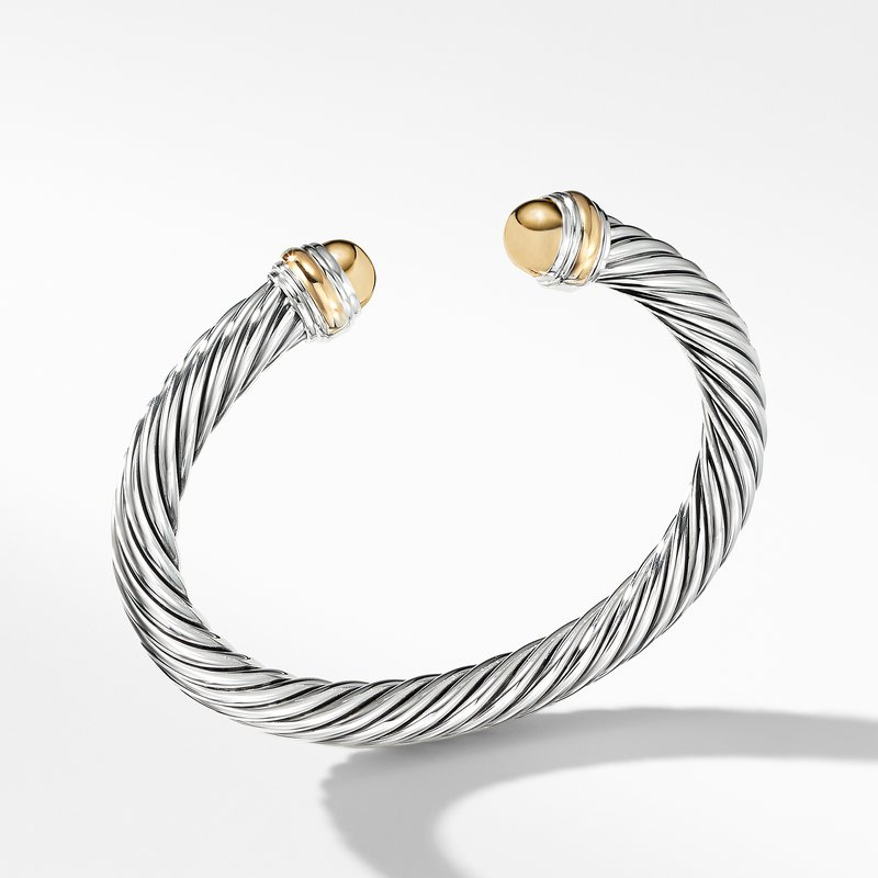 David Yurman Cable Classic Bracelet with 14K Gold