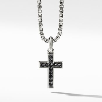 Cross Pendant with Pavé Black Diamonds
