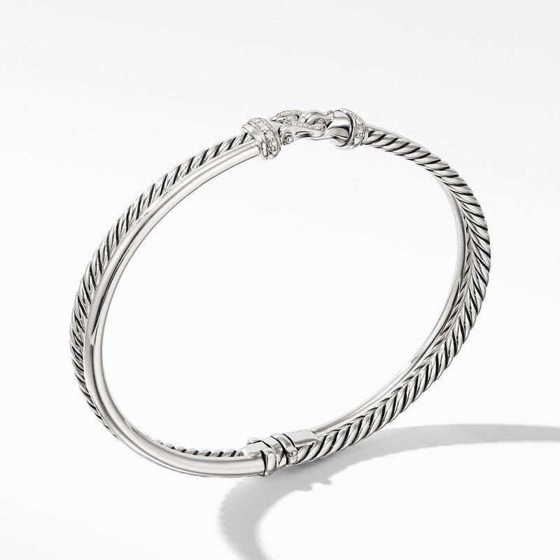 David Yurman Two-Row Buckle Bracelet with Diamonds
