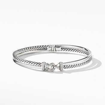 Two-Row Buckle Bracelet with Diamonds