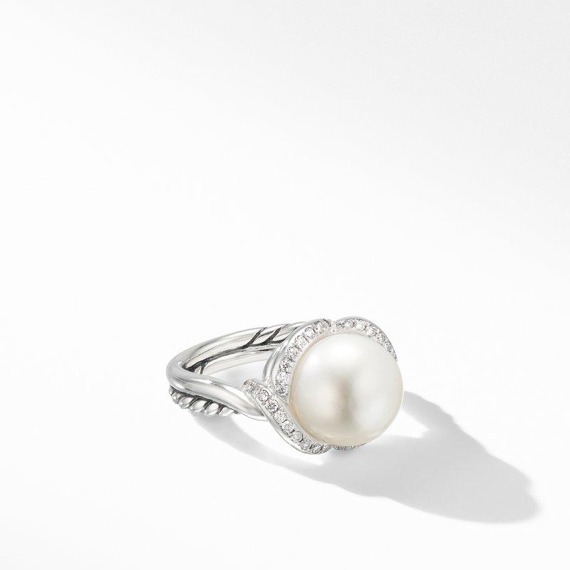 David Yurman Continuance® Pearl Ring with Diamonds