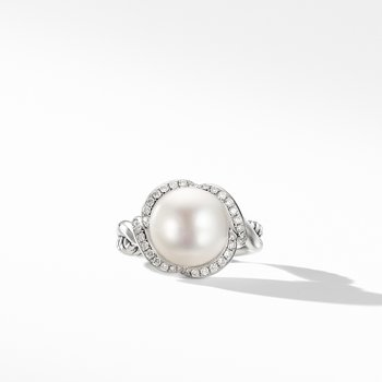 Continuance® Pearl Ring with Diamonds