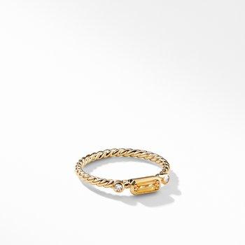 Novella Ring in Citrine with Diamonds