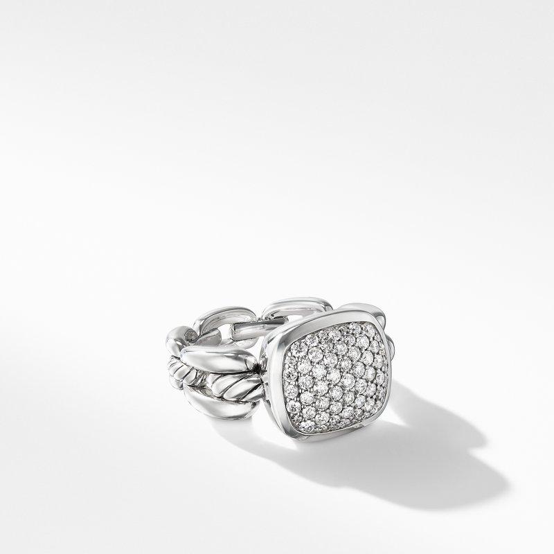 David Yurman Wellesley Link Ring with Diamonds