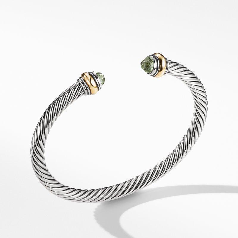 David Yurman Cable Classic Bracelet Prasiolite