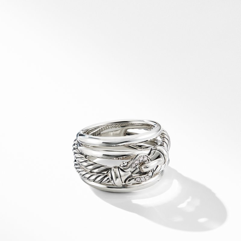 David Yurman Buckle Ring with Diamonds
