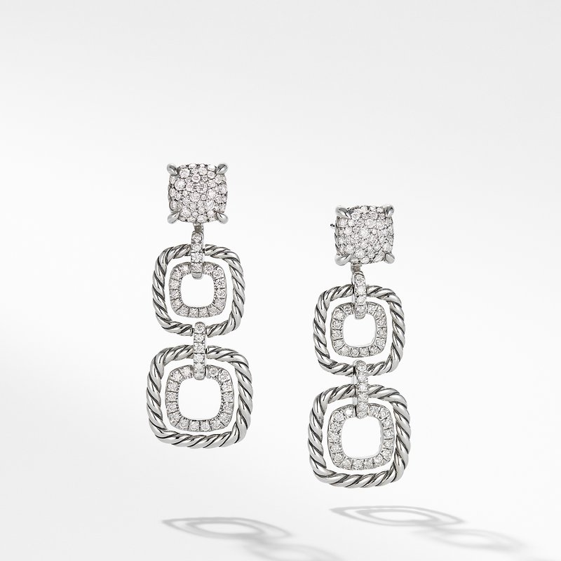 David Yurman Chatelaine® Full Pave Triple Drop Earrings