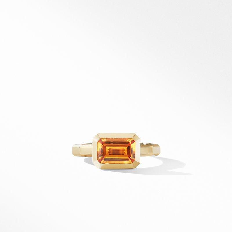 David Yurman Novella Ring in 18K Yellow Gold with Madeira Citrine