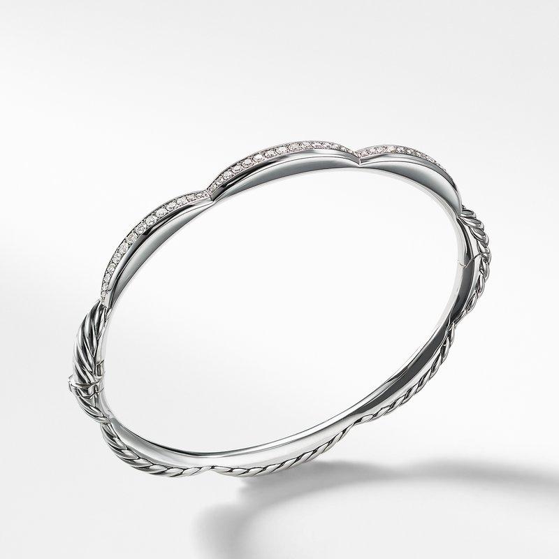 David Yurman Tides Three Station Bracelet with Diamonds