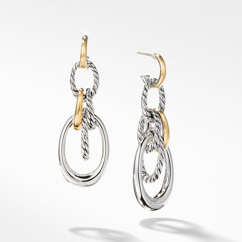David Yurman Pure Form® Drop Earrings with 18K Gold