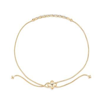 Pavéflex Station Bracelet with Diamonds in 18K Gold