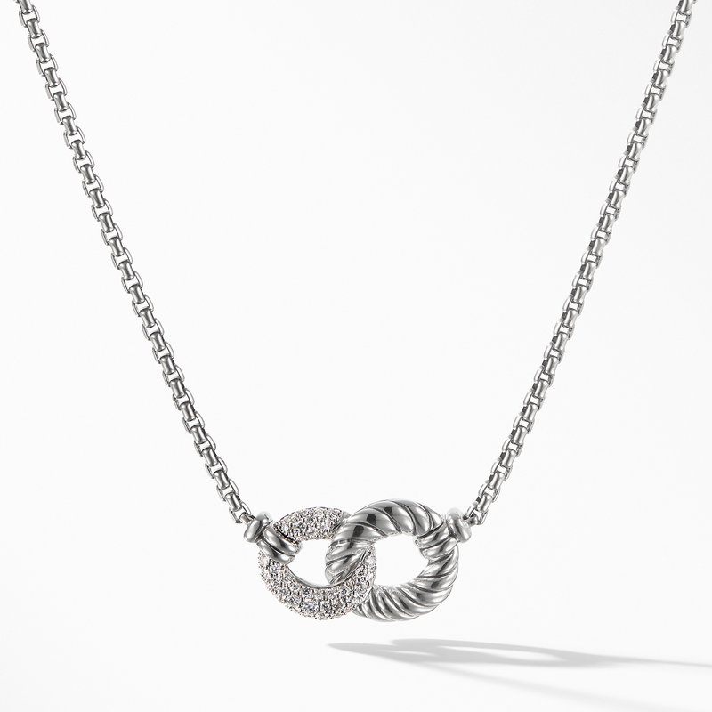 David Yurman Belmont® Double Curb Link Necklace with Diamonds