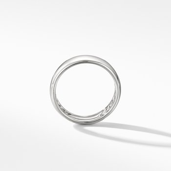 DY Classic Band Ring in 18K White Gold