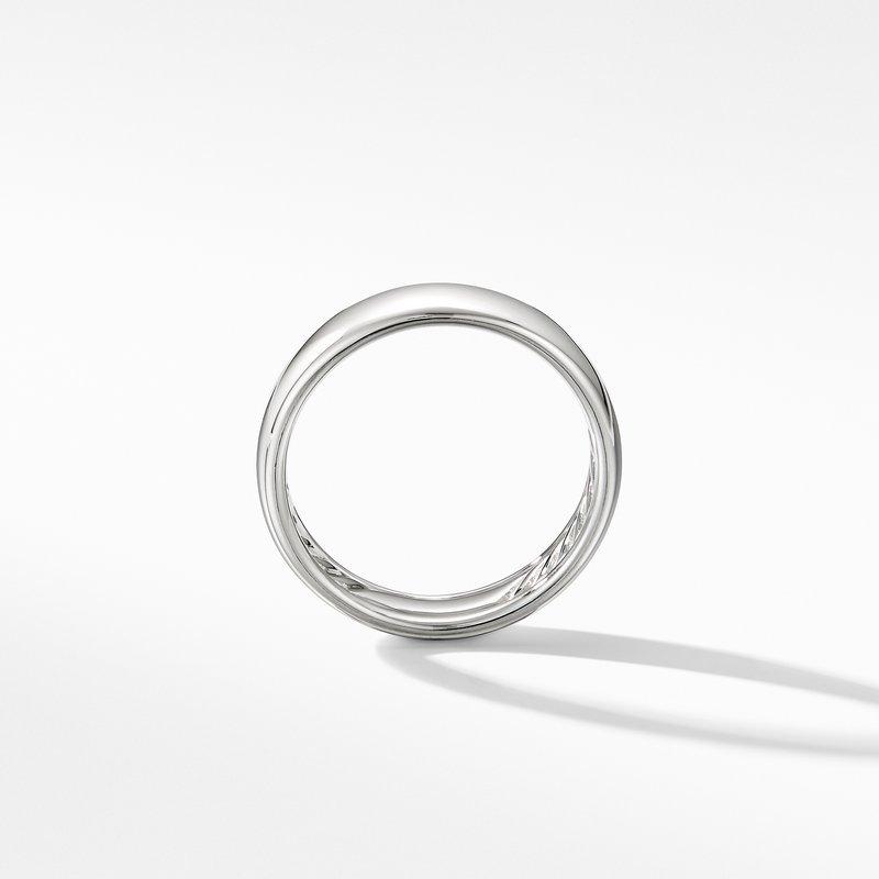 David Yurman DY Classic Band Ring in 18K White Gold