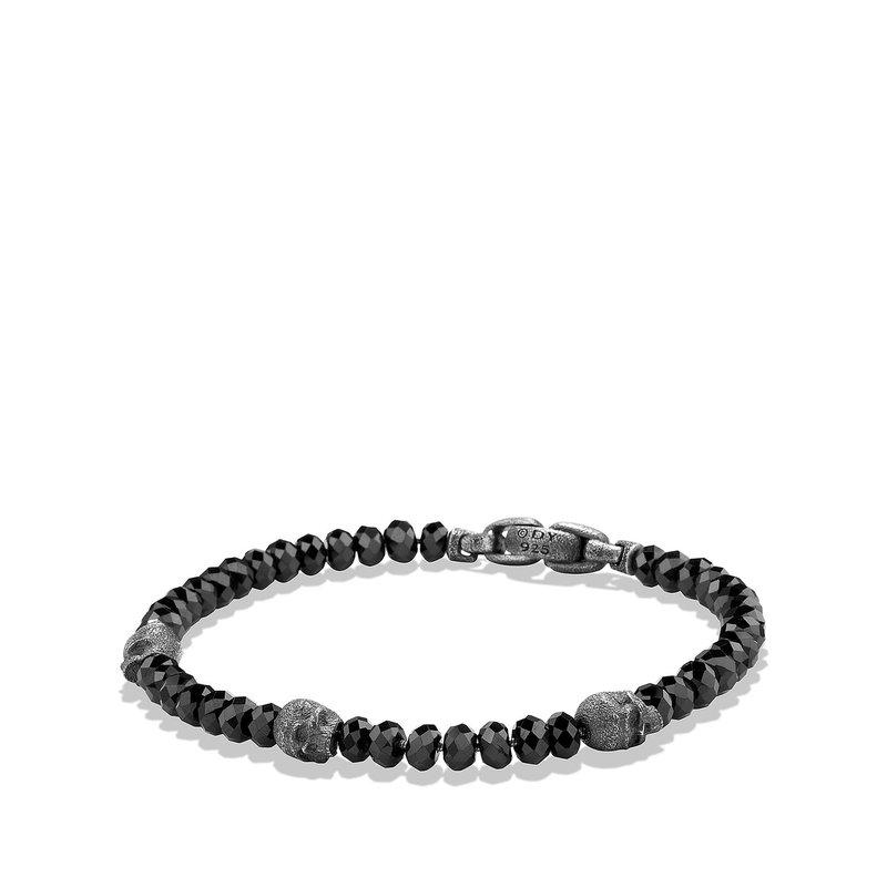 David Yurman Skull Station Bracelet in Black Spinel