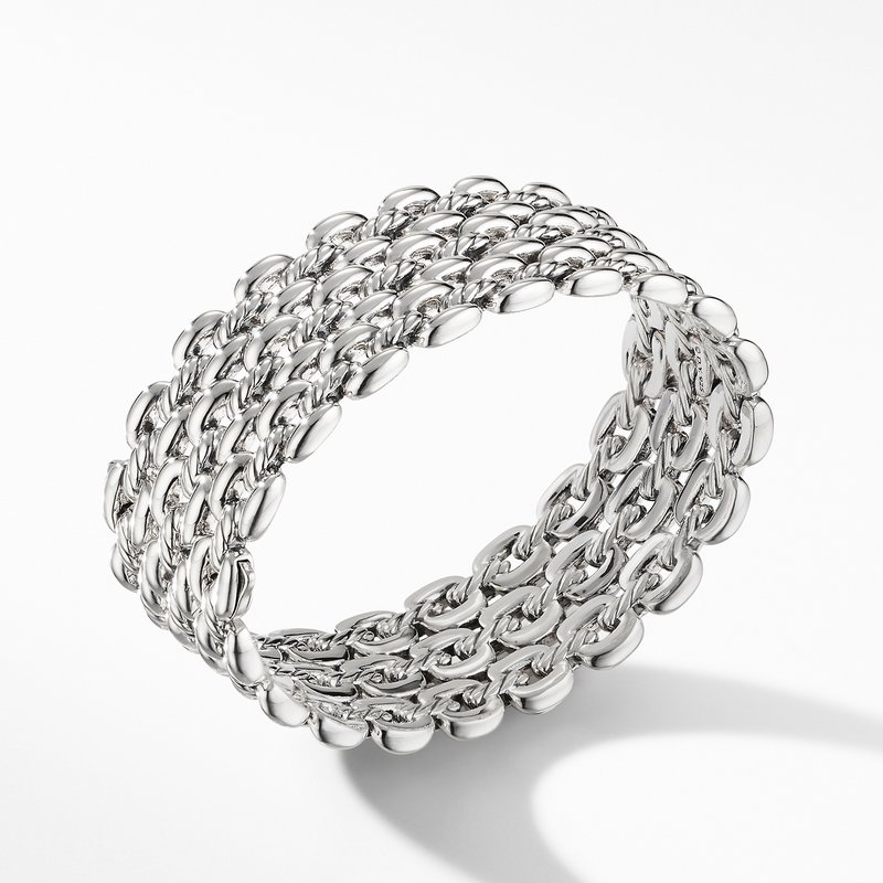 David Yurman Thoroughbred® Three-Row Cuff Bracelet